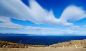 白云海天一色自然风景摄影高清图片