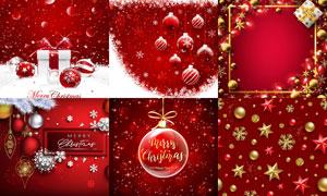 红色喜庆效果圣诞海报设计矢量素材