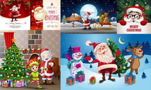 圣诞老人等圣诞节创意设计矢量素材