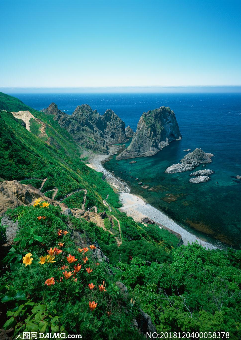 自然风景 > 素材信息                          美丽的海边和城市