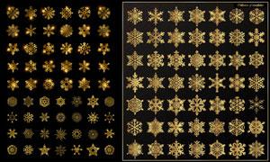 圣诞节日金色雪花元素设计矢量素材