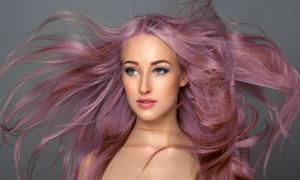 染发模特美女人物写真摄影高清图片