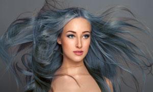 头发飘逸效果染发模特摄影高清图片