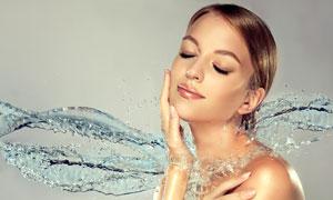 身体保湿护理主题美女摄影高清图片