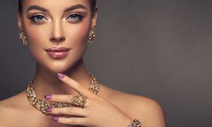 名贵首饰展示模特美女摄影高清图片