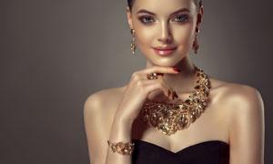 首饰展示模特性感美女摄影高清图片