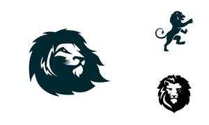 多样式狮子造型标志创意矢量素材V01