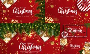 喜庆效果圣诞海报版式设计矢量素材