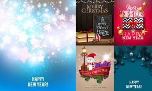 礼物盒雪人等圣诞主题设计矢量素材