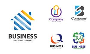 多彩商务公司标志创意设计矢量素材