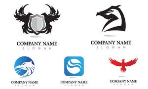 老鹰图案元素标志创意设计矢量素材