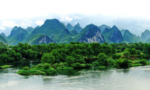 青山绿水美丽桂林山水摄影图片