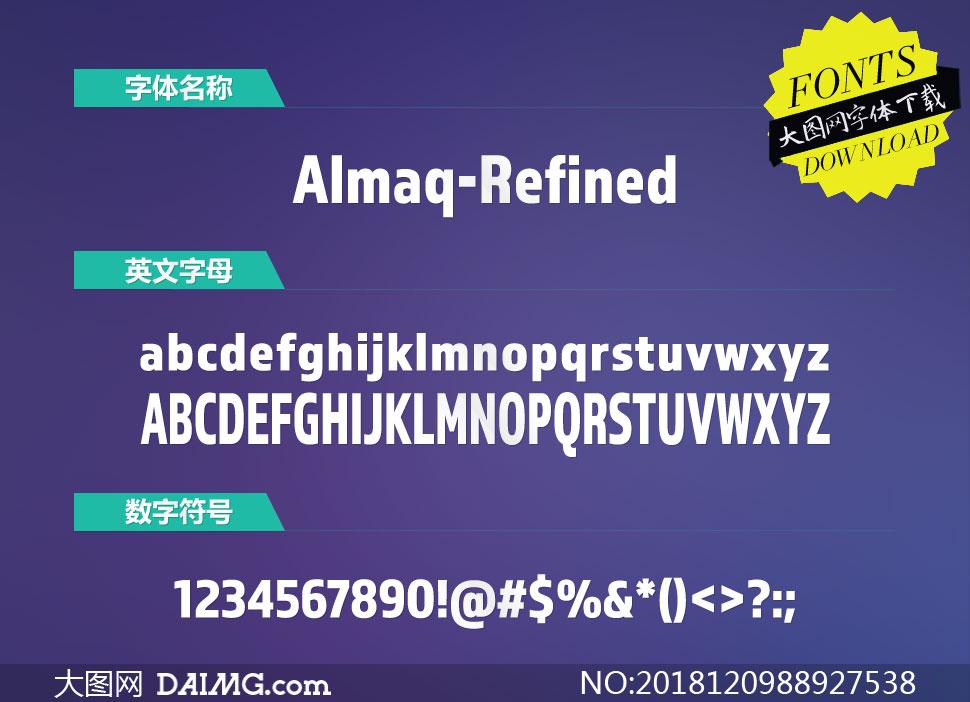 Almaq-Refined(英文字体)