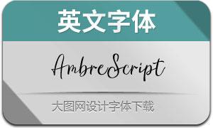 AmbreScript(英文字体)