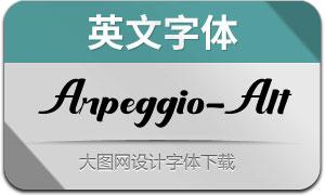 Arpeggio-Alternate(英文字体)