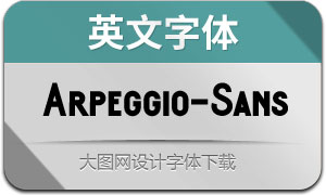 Arpeggio-Sans(英文字体)