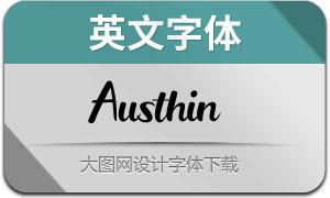 Austhin(英文字体)
