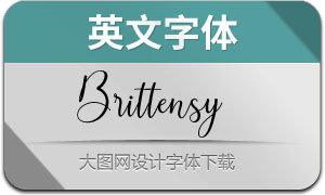 Brittensy(英文字体)