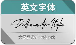 Dellamonde-Italic(英文字体)