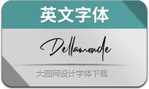 Dellamonde(英文字体)