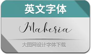 MaheriaScript(英文字体)