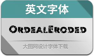 OrdealEroded(英文字体)