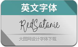 RedSatanic(英文字体)