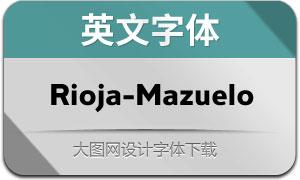Rioja-Mazuelo(英文字体)