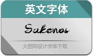 Sakenos(英文字体)