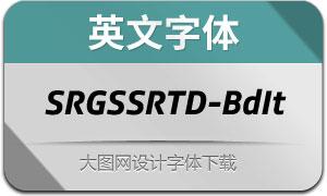 SRGSSRTypeDisp-BoldIt(英文字体)