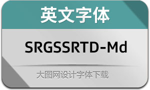 SRGSSRTypeDisp-Medium(英文字体)