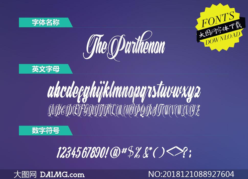 TheParthenon(英文字体)