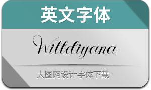 Willdiyana(英文字体)