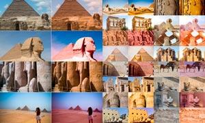 古埃及建筑旅行照片复古效果LR预设