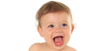 张着大嘴巴的可爱儿童摄影高清图片
