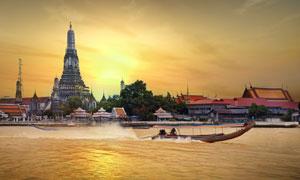 泰国曼谷的郑王庙风光摄影高清图片
