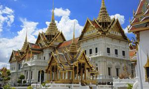 曼谷大王宫玉佛寺风光摄影高清图片
