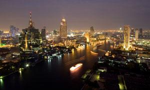 夜幕下的城市亮灯风光摄影高清图片