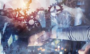 商务人物与齿轮等元素创意高清图片