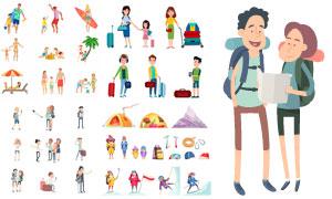 多款旅游度假人物主题设计矢量素材
