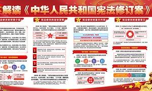 宪法修订案宣传展板设计PSD源文件