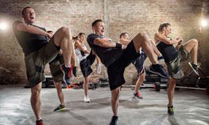 动作整齐划一运动人物摄影高清图片