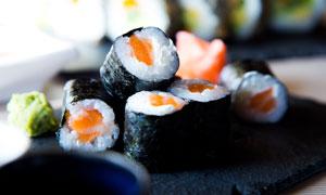 美味可口寿司近景特写摄影高清图片
