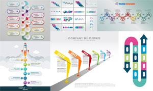 多种表现形式大事记信息图矢量素材