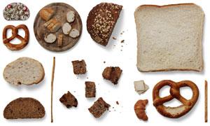 面包等烘焙食物的贴图元素分层素材