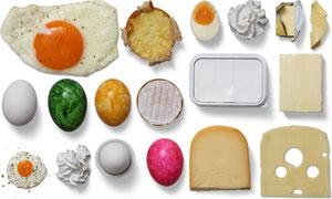 鸡蛋与奶制品主题样机模板元素素材