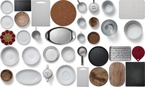 平底锅砧板等厨具样机元素分层素材