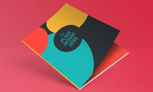 书籍画册封面效果展示贴图模板文件