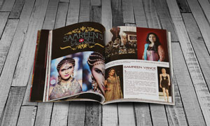时尚杂志质感内页贴图模板分层素材