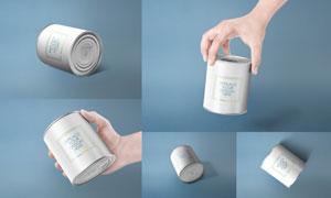 食品罐头包装效果应用展示贴图模板